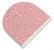 Two-tone 'pull On' Acrylic Knitted Hat