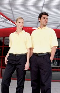 Pique Polo With Stand Up Collar