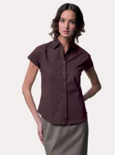 Women's Short Sleeve Easycare Fitted Shirt