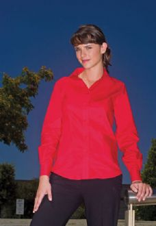 Womens Workplace Oxford Shirt Long Sleeve