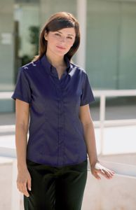 Women's Pinpoint Oxford Blouse - Short Sleeve
