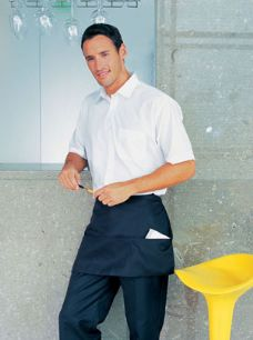 Waist Apron With 3 Open Pockets