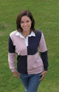 Ladies quartered 'stretch' rugby shirt