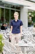 Women's Short sleeve fitted stretch shirt