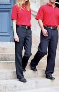 100% Teflon coated flat front trousers