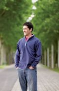 ¼ zip microfleece jacket with contrast