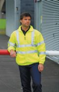 High visibility full zip fleece