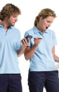 Women's hard wearing pique poloshirt