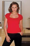 Womens corporate top scoop neck