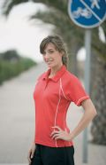 Ladies Piped polo