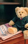 Benson bear plus business suit and concealed hand